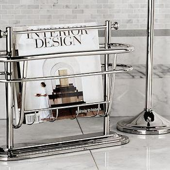 Bath - Mercer Floor Magazine Rack | Pottery Barn - mercer, floor, magazine, rack