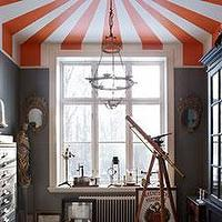 Decor/Accessories - Using Stripes On the Ceiling To Trick The Eye - stripes paint ceiling