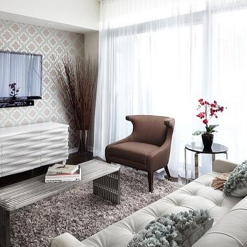 White Media Cabinet, Contemporary, living room, LUX Design