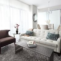 LUX Design - living rooms - chair, sofa, table, rug, mirror, side table, chandelier, white tufted sofa, leather sofa, leather tufted sofa, white leather tufted sofa,