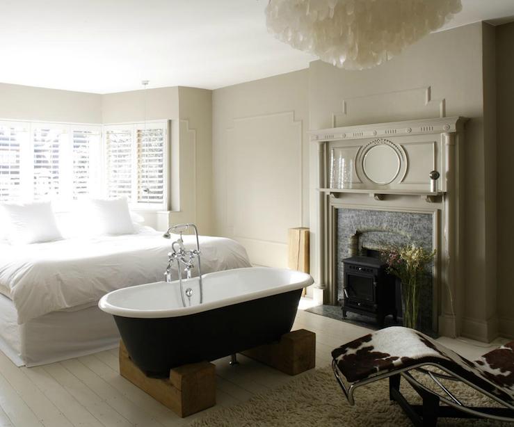 bedroom bathtub eclectic bedroom 1st option