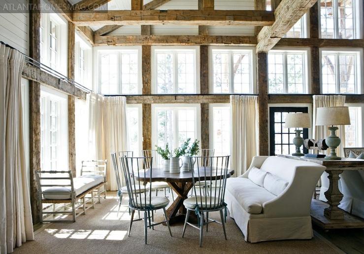Rustoc Wood Beams Cottage Dining Room Atlanta Homes
