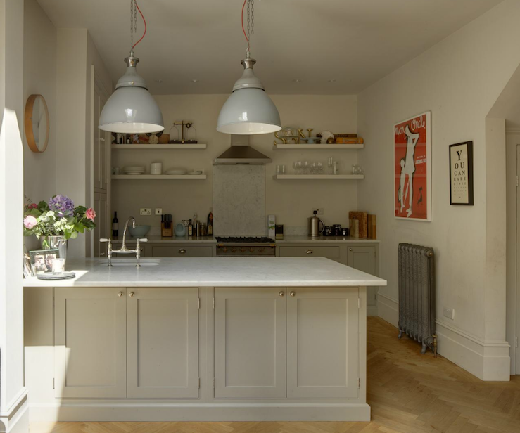 Gray Industrial Pendants - Transitional - kitchen - 1st Option