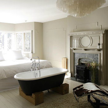 Bedroom Bathtub, Eclectic, bedroom, 1st Option