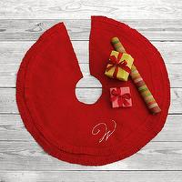 Miscellaneous - Felt Tree Skirt | west elm - red, felt, monogrammed, tree, skirt