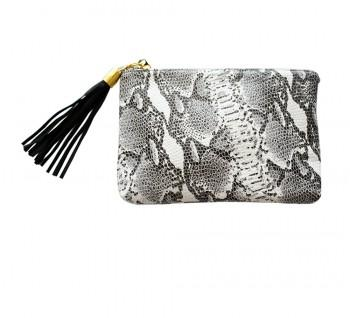 MadeByGirl, MINI LULU LEATHER CLUTCH (SNAKE)