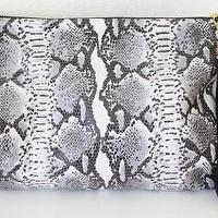 Miscellaneous - MadeByGirl - LULU LEATHER CLUTCH (SNAKE) - lulu, leather, clutch