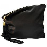 Miscellaneous - MadeByGirl - LULU LEATHER CLUTCH (BLACK) - lulu, black, leather, clutch
