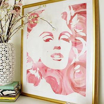 Art/Wall Decor - Marilyn Monroses Art Print - Pop Art - marilyn monroses, art