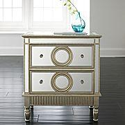Park Mirrored Bedside Table Pottery Barn