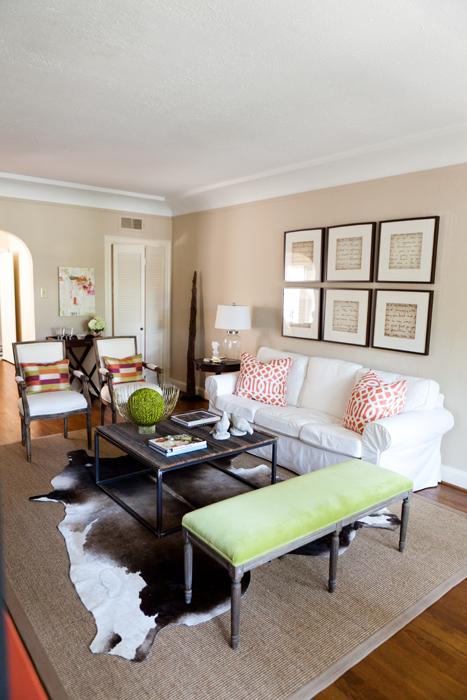 Green Vvlvet Bench Transitional Living Room Ej Interiors