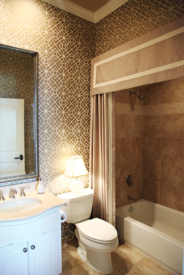Shower Curtain Valance - Contemporary - bathroom - EJ Interiors