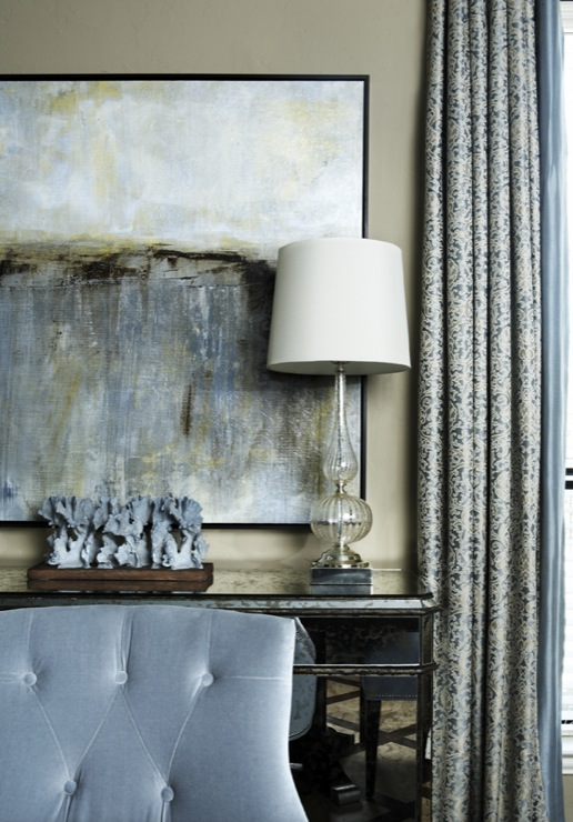 abstract canvas transitional dining room ej