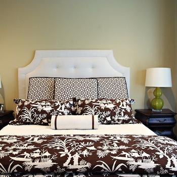 Toile Bedding, Transitional, bedroom, EJ Interiors