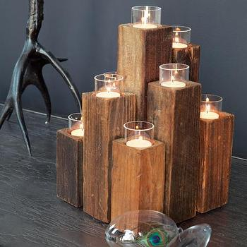 Elm Staggered Candelabra, Holiday, Olive & Cocoa