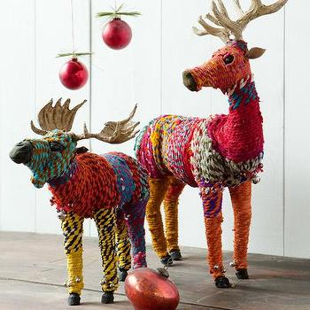 Miscellaneous - Chindi Reindeer & Moose - Christmas - Olive & Cocoa - chindi, reindeer, moose