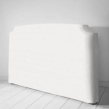 Beds/Headboards - St. Clair Slipcovered Headboard or Bed Frame from Lands' End - twill, st clair, slipcover, headboard