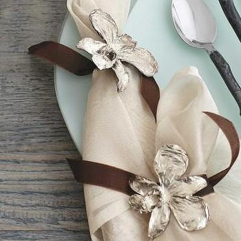 Decor/Accessories - Orchid Napkin Rings - VivaTerra - orchid, napkin, rings