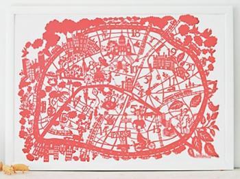 MadeByGirl, PARIS MAP CORAL