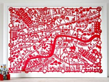 MadeByGirl, LONDON MAP RED