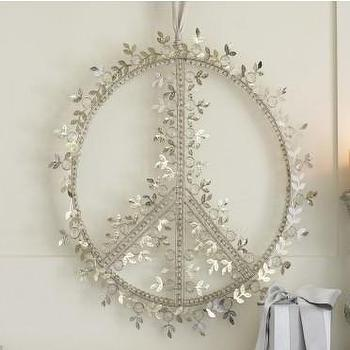 Miscellaneous - Silver Peace Wreath - VivaTerra - silver, peace, wreath