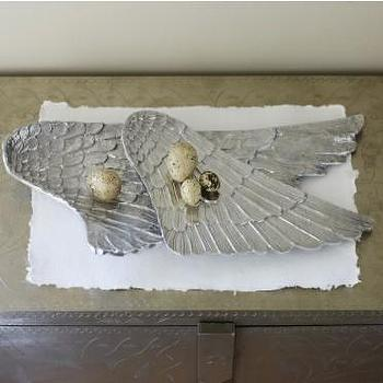 Miscellaneous - Recycled Aluminum Angel Wing Platters - VivaTerra - angel wing, platters