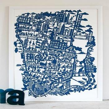 MadeByGirl, NEW YORK CITY MAP (NIGHT BLUE)