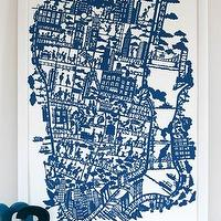 Art/Wall Decor - MadeByGirl - NEW YORK CITY MAP (NIGHT BLUE) - new york city, map, art