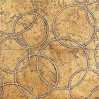 Tiles - Walker Zanger - Circolo Pattern, Gold on Biancone 4 Piece Pattern,  backsplash