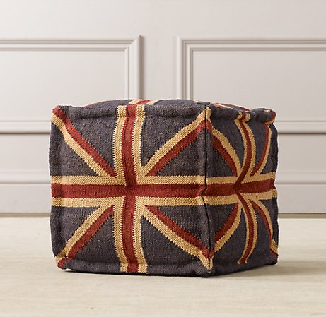 Restoration Hardware Baby And Child Union Jack Ottoman
