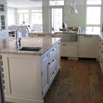 Wesley Ellen Design & Millwork - kitchens - traditional cabinets, built-in, reclaimed wood floors, inset cabinets, beaded inset cabinets, beach cottage, vacation home, white kitchen, inset cabinets, white inset cabinets, inset kitchen cabinets, white inset kitchen cabinets,