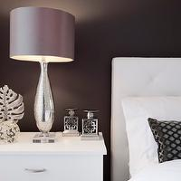 Jennifer Backstein Interiors - bedrooms - Contemporary, grey, white, upholstered bedroom.,  Stunning contemporary grey and white bedroom.