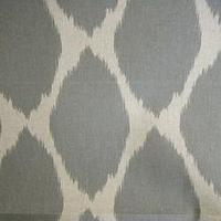 Fabrics - Ikat Ochee Feather Grey Drapery Fabric By Braemore - gray, ikat, ochee, feather grey, fabric