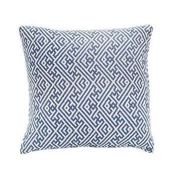 Pillows - Navia Hand-woven Pillow in Indigo - JADEtribe - Designers - blue, greek key, pillow