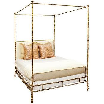 Beds/Headboards - Oly Studio Diego Gold Bed - oly studio, gold, diego, bed