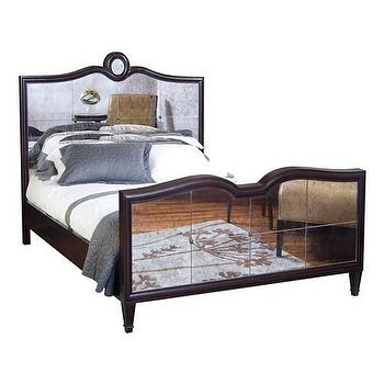 Beds/Headboards - Belle Meade Grayson Espresso Luxe Bed - belle meade, grayson, espresso, mirrored, bed