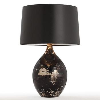 Lighting - Arteriors Flynn Black Reactive Glass Table Lamp - arteriors, flynn, black, reactive, glass, lamp