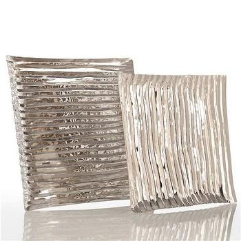 Decor/Accessories - Arteriors Triston Square Polished Nickel Tray - arteriors, triston, square, polished nickel, tray