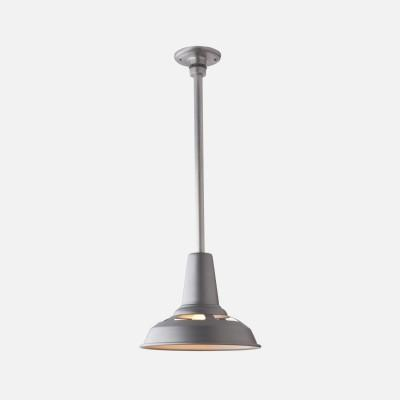 Lighting - Factory Light No. 4 Rod - Pendant - Fixtures - Lighting & Hardware - factory, light, 4, gray, light, pendant