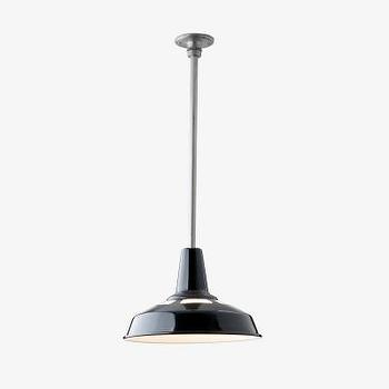 Lighting - Factory Light No. 5 Rod - Pendant - Fixtures - Lighting & Hardware - factory, light, 5, black, pendant