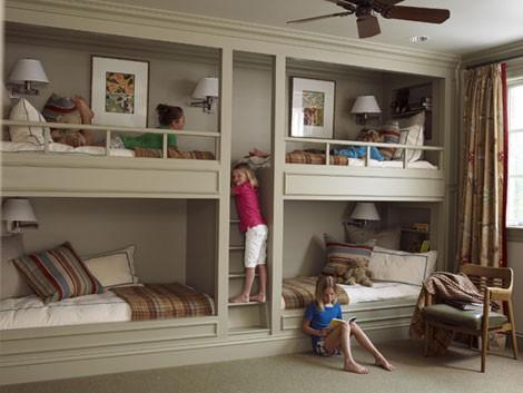 Bedding - Nooks and Built Ins « Elements of Style Blog - bunk beds