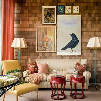 Turquoise Floor Lamps, Eclectic, living room