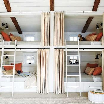 Built In Bunk Beds, Cottage, boy's room, Elle Decor