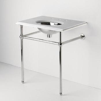 Metal Round Two Leg Single Washstand 28
