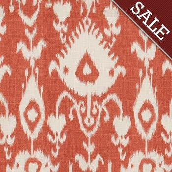 Malabar Coral Fabric by the Yard, Ballard Designs