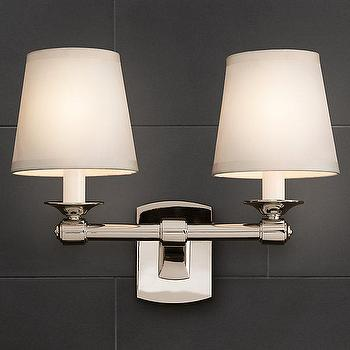 Campaign Double Sconce, Bath Sconces, Restoration Hardware