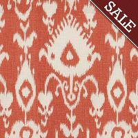 Fabrics - Malabar Coral Fabric by the Yard - Ballard Designs - malabar, coral, fabric
