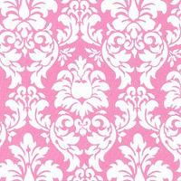 Wallpaper - Pink and White Damask Fabric, Pink Damask Fabrics, Childrens Fabric, Girls Fabric - kids, pink, wallpaper