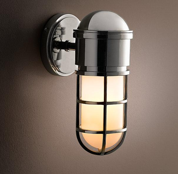 Bathroom Wall Sconces Restoration Hardware : Maritime Caged Sconce - Sconces - Restoration Hardware