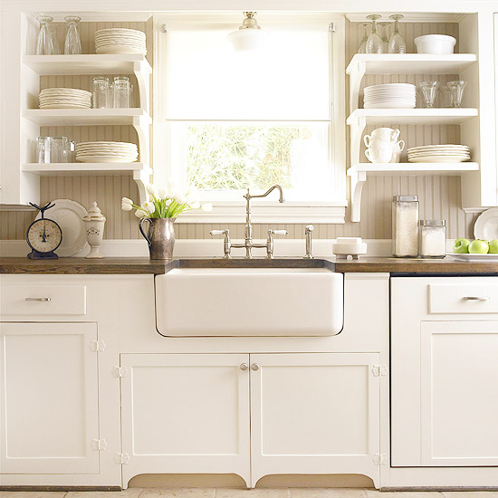 Farmhouse Sink White Cabinets : White Kitchen Ideas with Farmhouse Sinks
